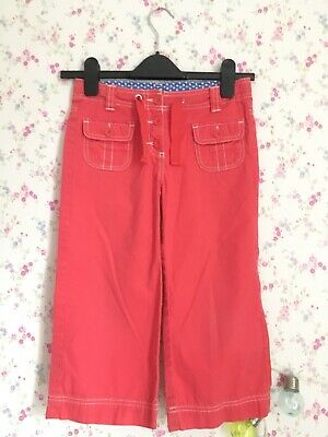 Girls Mini Boden Coral Pink Trousers, Age 10, Excellent Condition, Never Worn