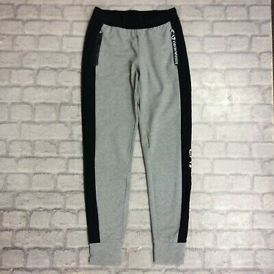 Emporio Armani Ea7 Ladies Uk Xs Grey Tech Pants Track Pants Joggers Designer