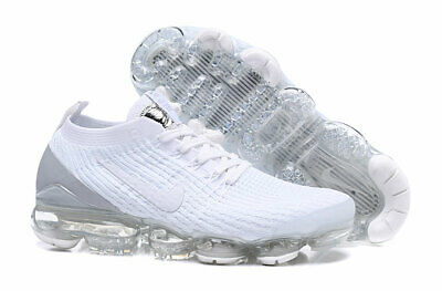 Nike Air VaporMax Flyknit 3.0 2019 Mens Running Shoes White and silver
