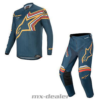 2020 Alpinestars Racer Braap Orange Navy mx motocross Combo Cross Hose Jersey