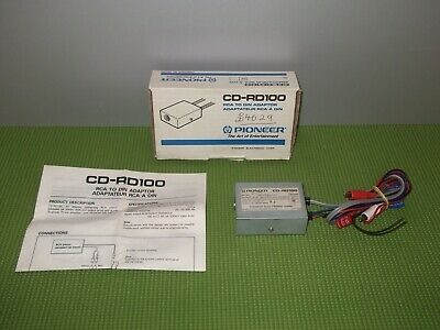 Old Pioneer Cd-Rd100 Component Controller Module Adaptor Convertorv RCA to DIN