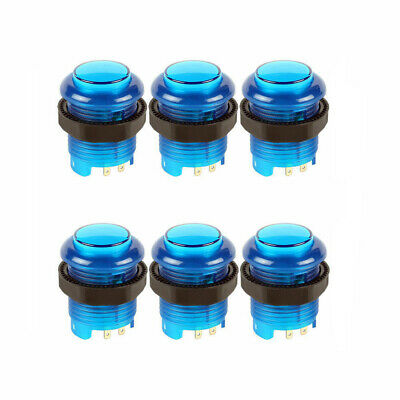 LED Illuminated Arcade Push Buttons with Switch for MAME JAMMA 30mm 6PCS