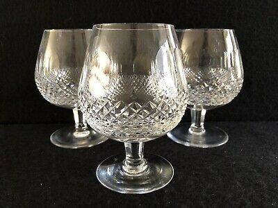 """3 Waterford Crystal """"Colleen Short Stem"""" -  5.25"""" Brandy Glasses,  All Signed"""