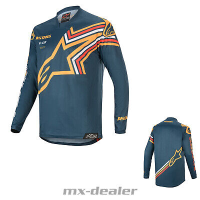 2020 Alpinestars Racer Braap Navy Orange mx motocross Cross Jersey Shirt BMX DH