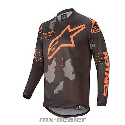 2020 Alpinestars Racer Tactical Orange mx motocross Cross Jersey Shirt BMX DH