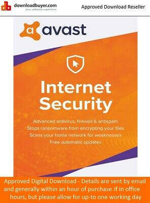 Avast Internet Security 2019 - 1 PC 1 Year -  (Approved Digital Download)