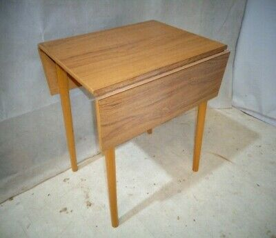 RETRO FORMICA KITCHEN TABLE VINTAGE DINING TABLE TEAK EFFECT TABLE 50s 60s
