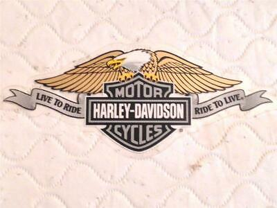 Harley Davidson Vintage Live To Ride/ Ride To Live (Inside) Decal 5''X2.25'' New