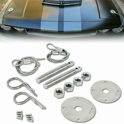 Universal Stainless Steel Hood Pins / Bonnet Lock Pin Kit US Seller!!