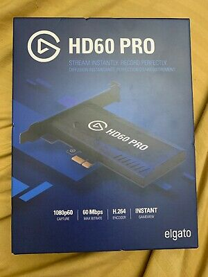 Elgato Game Capture HD60 Pro PCIe Capture Card Stream and Record in 1080p 60 FPS