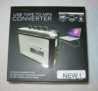 USB Tape to MP3 Converter New Tested & Works battery operated 2012