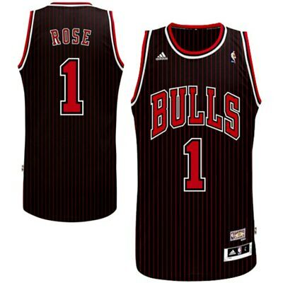 on sale 12614 473bf DERRICK ROSE # 1 Chicago Bulls Adidas Stitched Swingman ...