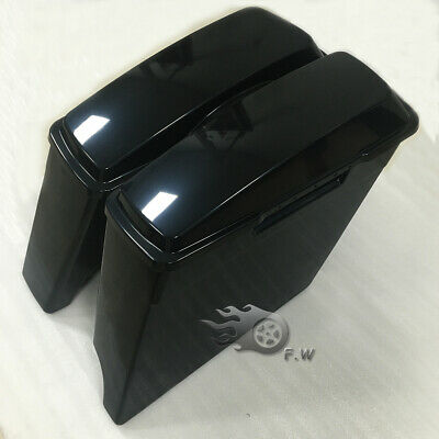 """1/2 Left Side No Cutout 4"""" Extended Saddlebags Fit For Harley Hard Bag Unpainted"""