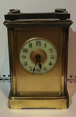 Antique French Brass Carriage Clock by R & Co