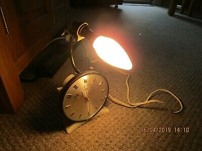 Vintage Retro  Bedside Lamp Light Metamec Alarm Clock