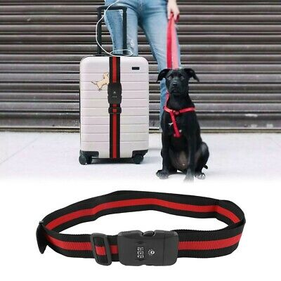 Travel Luggage Cross Strap Suitcase Baggage Bag Backpack Belt With Coded Lock