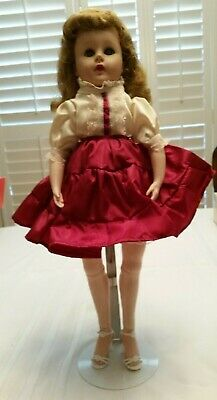 """Vintage Valentine 17 VW Doll 18"""" Jointed at knees and feet . Comes with Stand"""