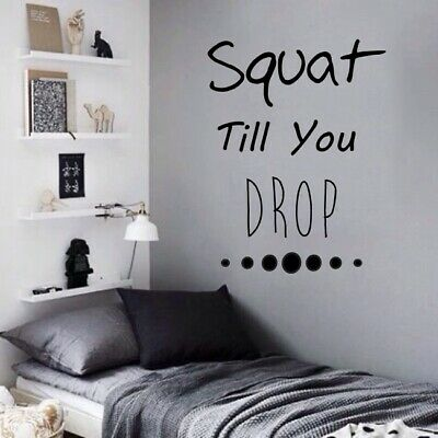 Fitness Motivational Gym Quote wall stickers Art Decor w180