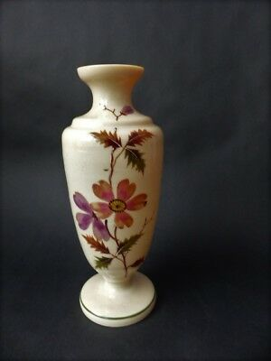 19th c Hand Decorated Victorian Bristol Opaque  Glass Vase