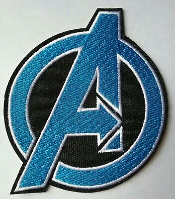 Avengers Logo Iron-on Patch Marvel Comics Classic Retro Cosplay Blue 'A' Symbol