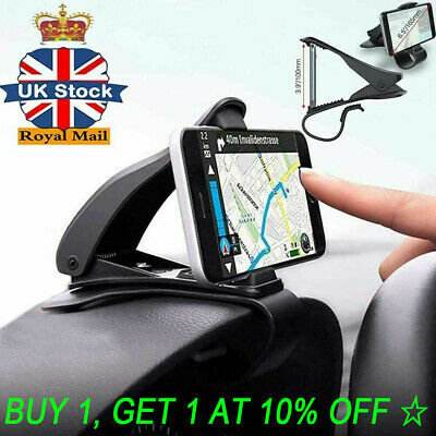 Universal Clip On Car HUD GPS Dashboard Mount Cell Phone Holder Non-slip Stand ▲