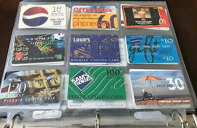 Lot of 9 Different Used Phone Cards Pepsi Lowe's McDonalds blockbuster Sams 90s+