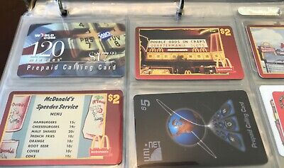 Lot of 9 Different Used Phone Cards McDonalds World Com Uninet Montgomery Ward
