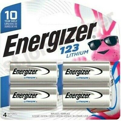 Energizer Lithium 123 Cr123A 3V Photo Battery - 4 Pk *Exp. 2028*