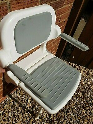 AKW 02130P Wall Mounted Shower Seat With Arm Rests