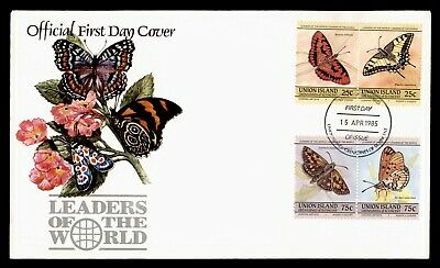 Dr Who 1985 Union Island Butterfly Pairs Fdc C103509