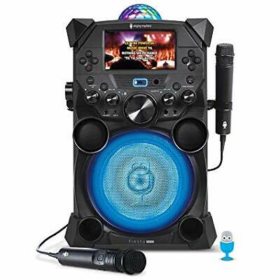 Singing Machine Fiesta Voice with LCD Monitor, Karaoke Battery and Bluetooth
