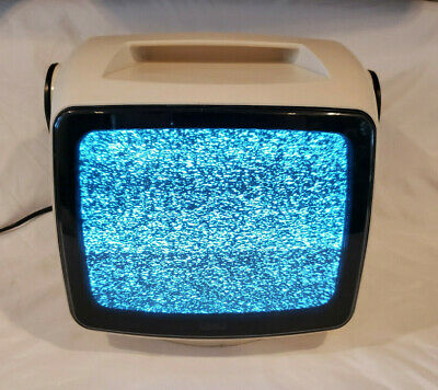 Vintage Television Sears Roebuck Space Age Mid Century Black & White Solid State