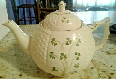 Donegal Parian China Teapot. Shamrocks. Excellent..........