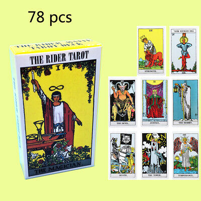 78pcs Rider Waite Tarot Deck Cards English Full Version Gift For Beginners B0I7X
