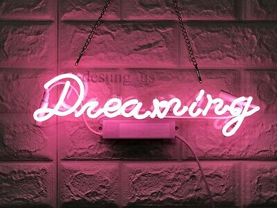 "New Dream Neon Light Sign 14"" Lamp Beer Pub Acrylic Real Glass Gift"