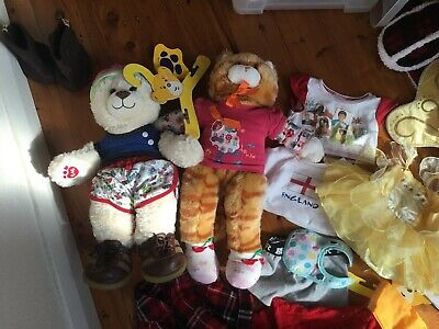 Genuine Build a Bear 2 Bears with Different genuine accessories