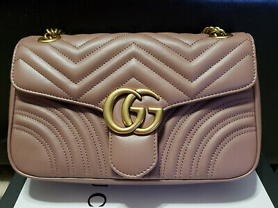 457eb36eb GUCCI MARMONT BAG Authentic Small Quilted Leather Black New With ...