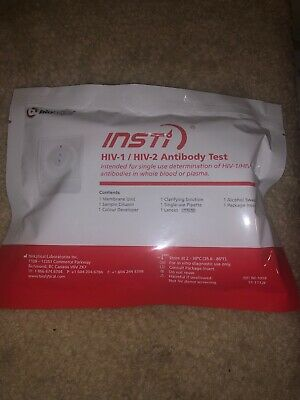 INSTI® HIV-1 & HIV-2 Rapid Antibody Self Test Kit HOME QUICK 60 SEC