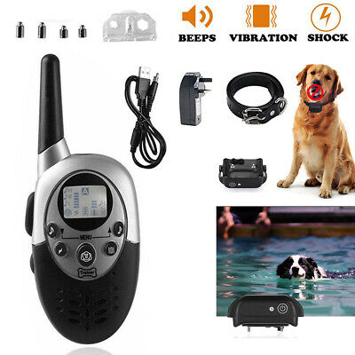 Anti-Bark Electric Shock E-Collar Training Remote Control Rechargeable Dog AU
