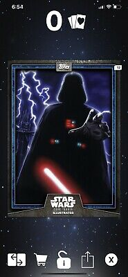 TOPPS STAR WARS CARD TRADER ILLUSTRATED 2019 CTI The Dark Lord Darth Vader BLUE