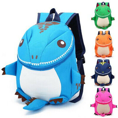 AU 3D Cartoon Waterproof Kids Children School Dinosaur Backpack Toddler Bag Tote
