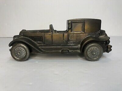 "Vintage Metal Car Bank Banthrico Inc Lincoln Brougham Coin 7"" 1974 Cast Iron Toy"