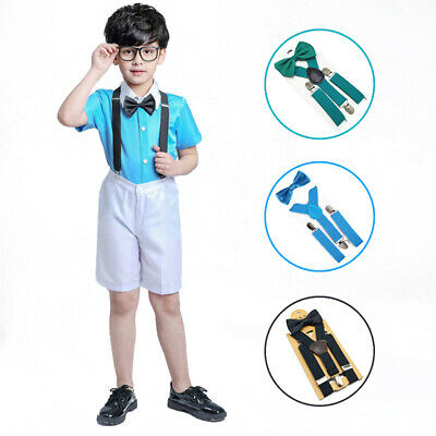Matching Braces Suspenders and Bow Tie Set Kid Adult Child Boys Wedding