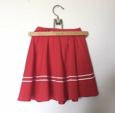 Vintage 60's Mod Red White Stripe Tennis Skirt Girls Size 6