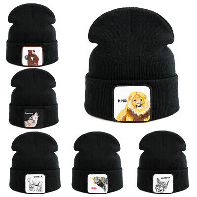 Fashion Beanie Knit Cap Ski Mens&Womens Wool Hat Hip-Hop Winter Warm Animal mark