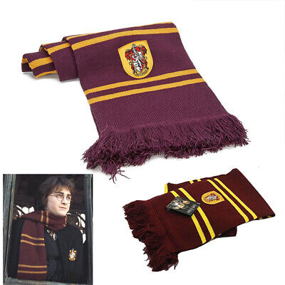 Harry Potter Kid Adult Gryffindor Robe Cloak Costume Cape Scarf Tie Cosplay Wand