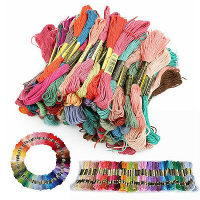 Mix Colors Cross Stitch Cotton Sewing Skeins Embroidery Thread Floss Kit 200 X