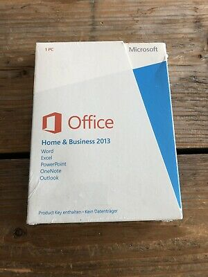 Microsoft Office Home and Business 2013 PKC, DE, Vollversion mit MwSt-Rechnung