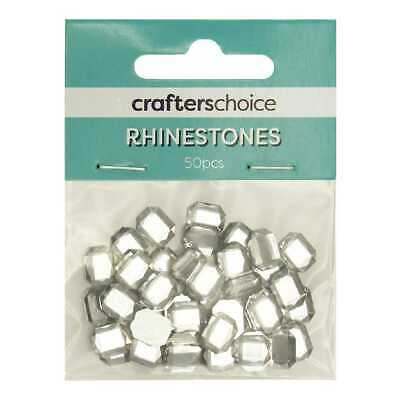 NEW Crafters Choice Stick-On Faceted Octagonal Gems Pack By Spotlight