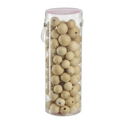 NEW Crafter's Choice Large Wood Beads in Tube By Spotlight